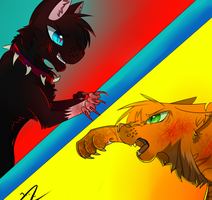 [Redraw of a Redraw] Lion VS Blood by AryaTheWolfCat