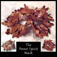 Forest Spirit Leather Mask by starbright2040