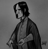 Snape Sketch by LuigiL