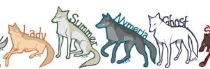 Game of Thrones Direwolves by Veloie