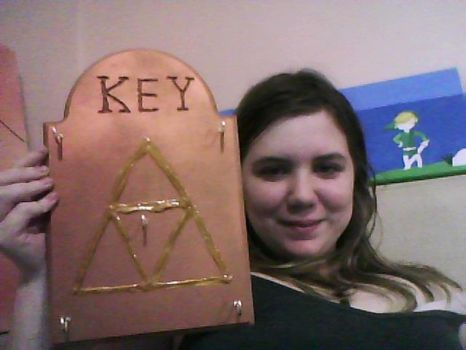Triforce Key Holder by Linkage92