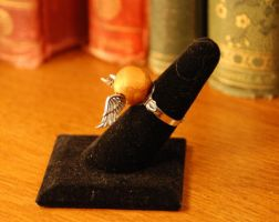 Golden Snitch Ring by kittykat01