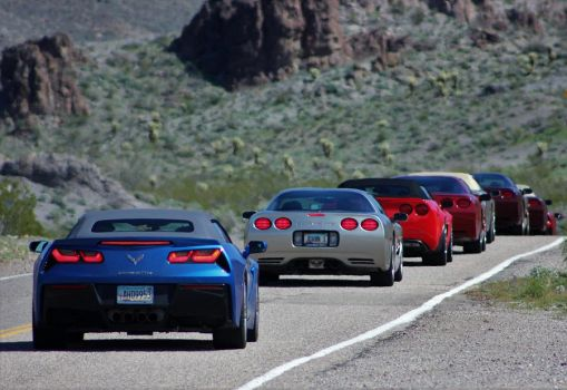 Corvettes in a row by finhead4ever