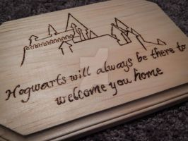 Hogwarts Will Always Be There Pyrography by Lustuad