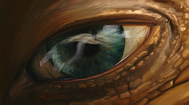 Creature eye digital drawing (small) by dubz002