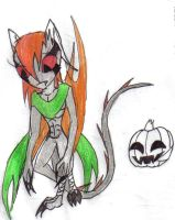 Claire the young Pumpkin Bat by werecatkid17