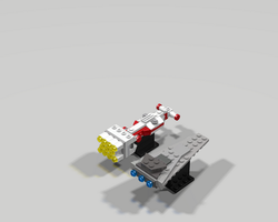 Star wars Corvette And Vindicator Rear view by Jesse220