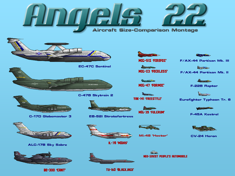 Angels 22 Aircraft Montage by PrinzEugn