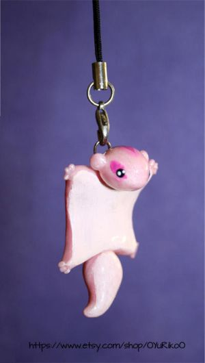 Flying squirrel charm by o-YuRiko-o