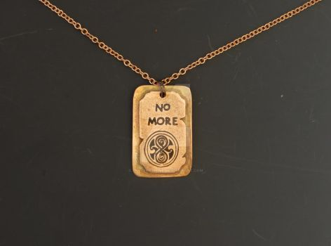 Dr Who - No More Pendant by Peaceofshine