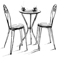 transparent table and chairs by dementiaRunner