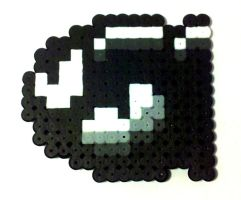 8-bit Bullet Bill Charm by i-am-a-decoy