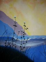 night seascape (oil) by GuinevereMeine