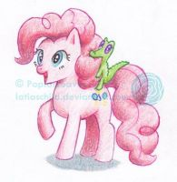 Pinkie Pie and Gummy by poplarleaves