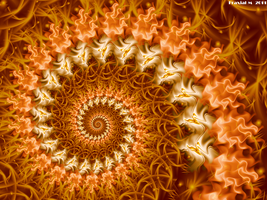 Salmon Flames Spiral by fraxialmadness3