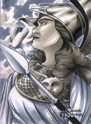 Athena Classic Mythology Sketch Card