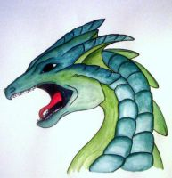 Green Dragon by likescarecrows