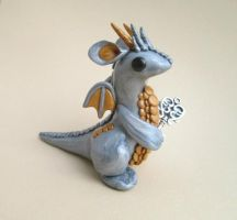 Silver Key Keeper Dragon by KriannaCrafts