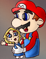 Mario and Giana by Quacksquared