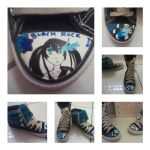 Black Rock Shooter Shoes by ChippyMonkey