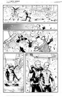 Marvel spidey sample page 3 inks by JoeyVazquez