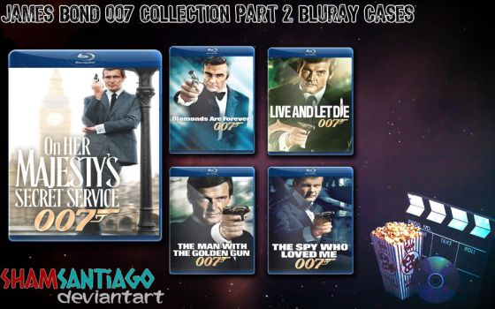 James Bond 007 Collection Part 2 Bluray Cases by ShamSantiago