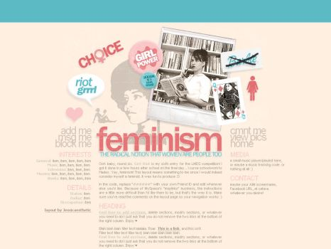 Feminism MySpace layout by ribcages