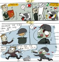 Wolfenstein The Old Blood - doodles 2-3 by Ayej