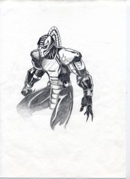 Cyrax by Pencil-Loco