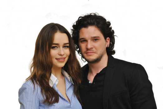Emilia Clarke and Kit Harington Png [Render] by thisisdahlia