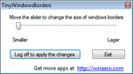 Tiny Windows Borders for Windows 8 by hb860