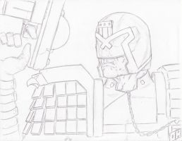 Judge Dredd Sketch by Steel-Raven