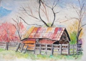 Old barn by Crittermama21