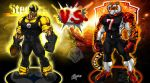 steelers vs Bengals by CarbertArtwork