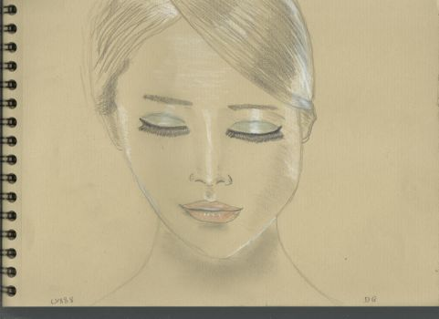 Kraft test - Woman face study n108 by lv888