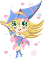 Chibi Dark Magician Girl by LittleBeautifly