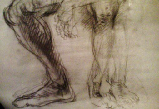 Feet Life Drawing by AGjerdevik