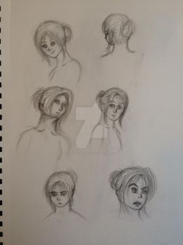 Sketchbook: Faces by Manga-maniac3
