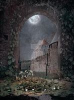 PREMIUM background - A Medieval-Place3 by Euselia