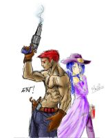 CowBoy And CowGirl by aLeaTioN