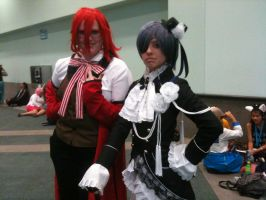 Anime Expo 2012 Ciel and Grell by Fainting-Ostrich