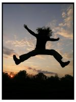 sunset jump by Bokor
