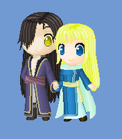 Lucius and Karel - doll - FE7 by Nijichan