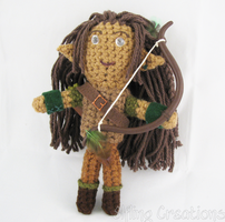 DnD Elf Ranger Plushie by merigreenleaf