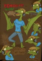 Pewdiepie the pterosaur - Colored version by ScribbleNetty