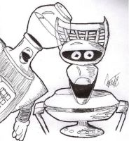 Tom Servo and Crow T. Robot by AgentC-24