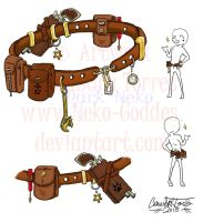 Steam Punk Utility Belt by Neko-Goddes