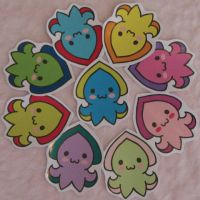 Cuddlyfish Stickers by WhimzicalWhizkerz