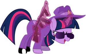 Gangster, Twilight Sparkle! by Flutterflyraptor