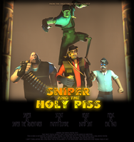 Sniper and the Holy Piss Poster by Ultimote